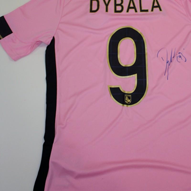 2014/15 Palermo match worn shirt signed by Dybala