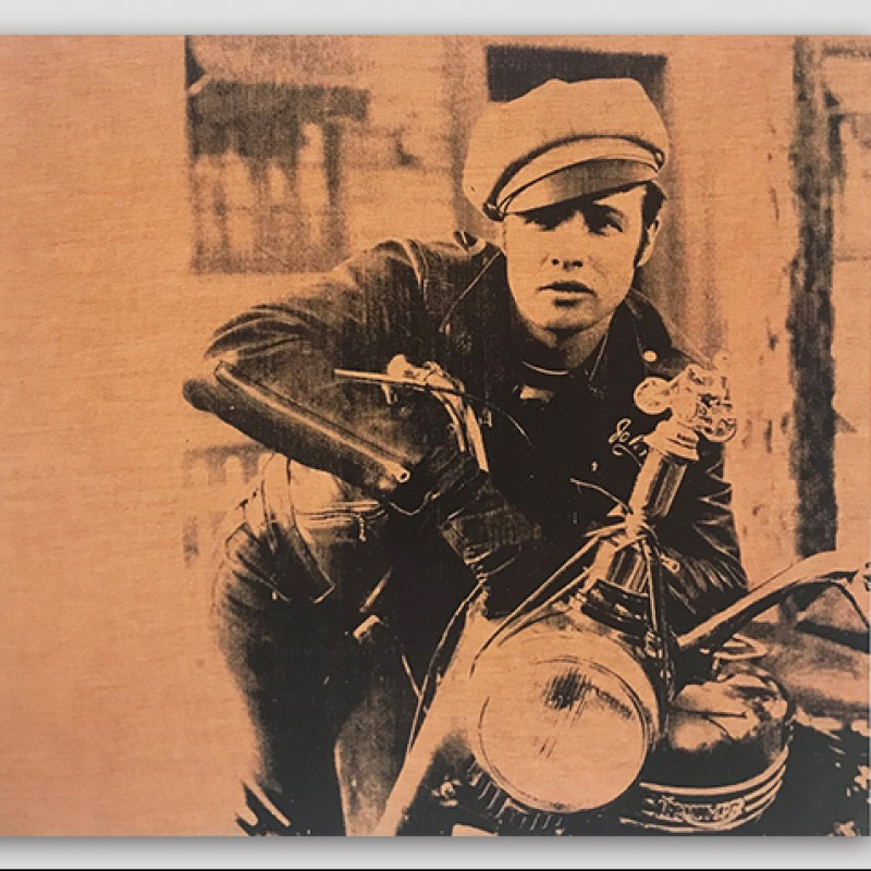 """Marlon Brando in The Wild One"" by Andy Warhol"
