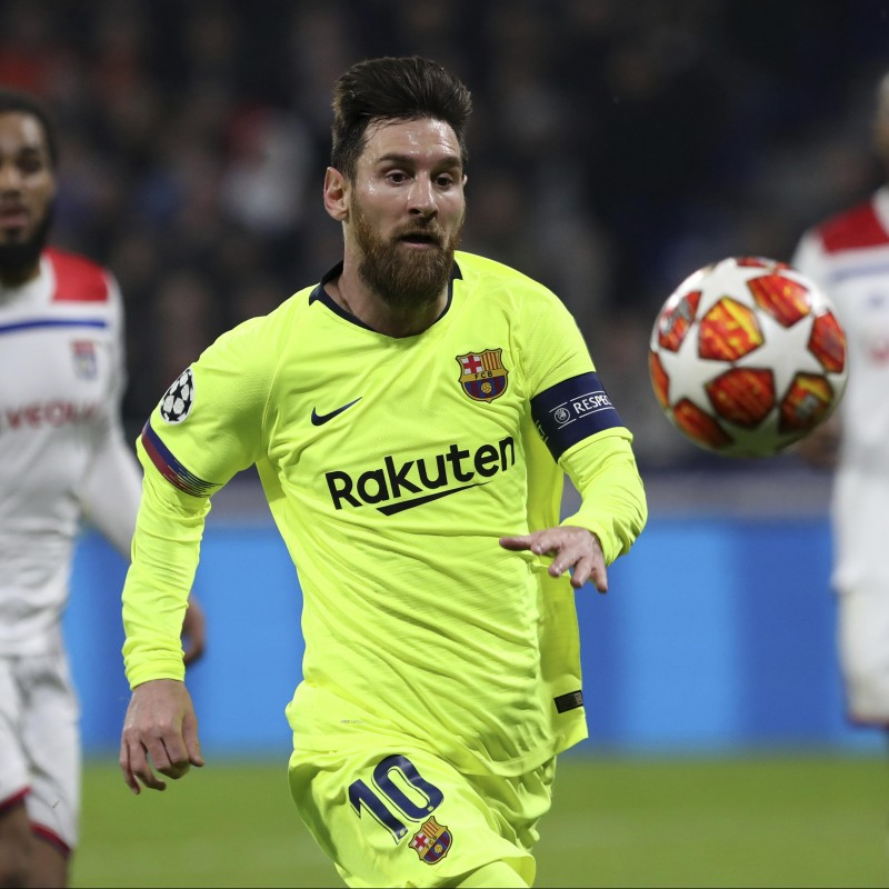 Messi's Match Shirt, Lyon-Barcelona UCL 2018/19