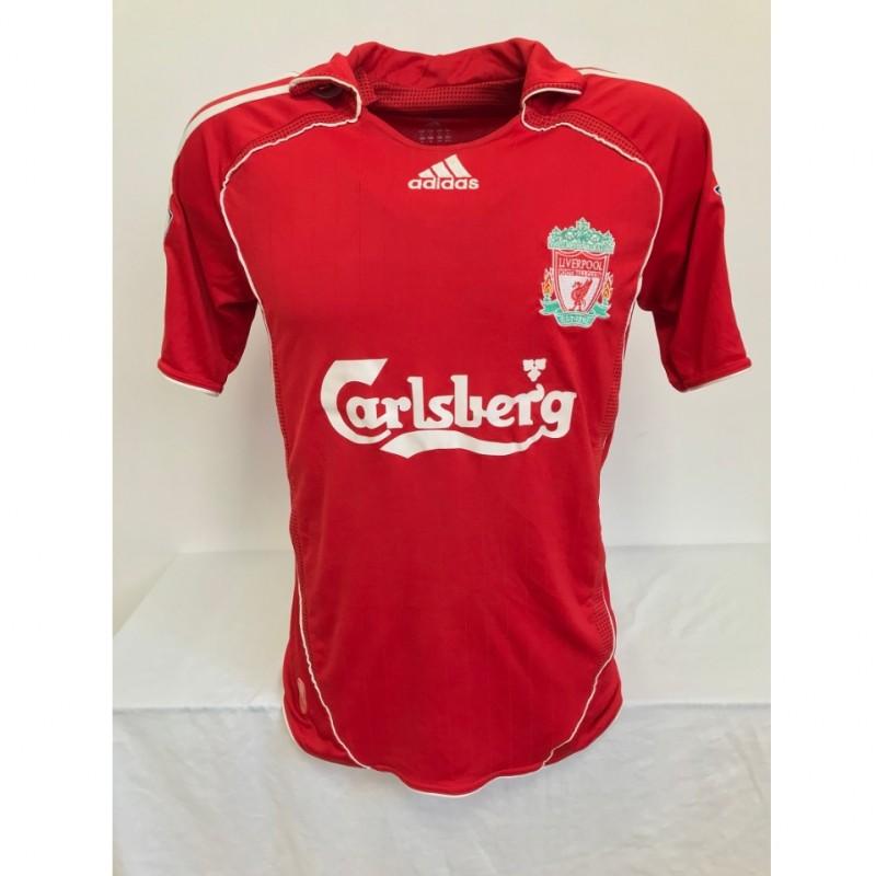 Gerrard's Official Liverpool Signed Shirt, 2006/07