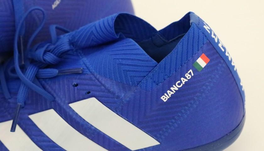 Scarpe Adidas Candreva, preparate e autografate 201819
