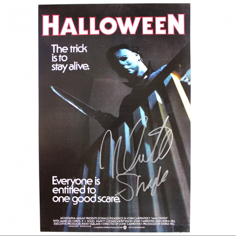 "Nick Castle ""Michael Myers"" Signed Halloween Poster"