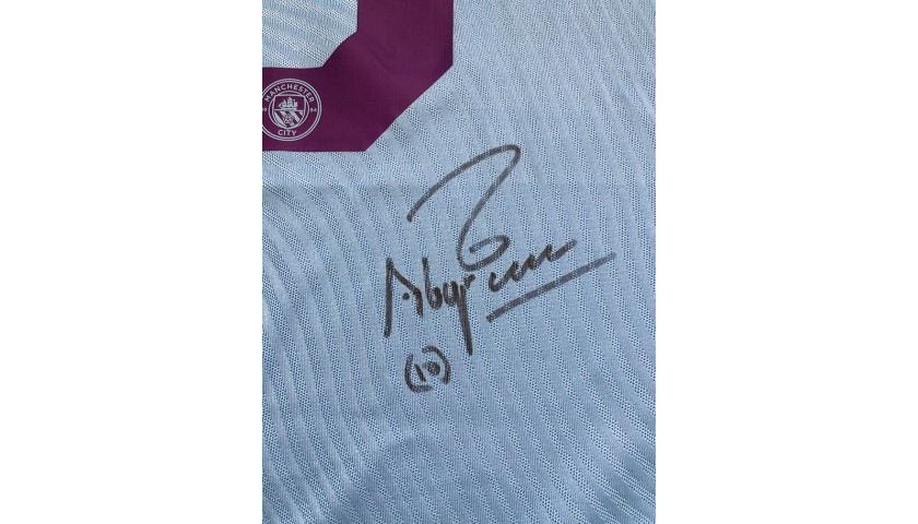 Aguero's Signed Match Shirt, Man City-Dinamo Zagreb 2019