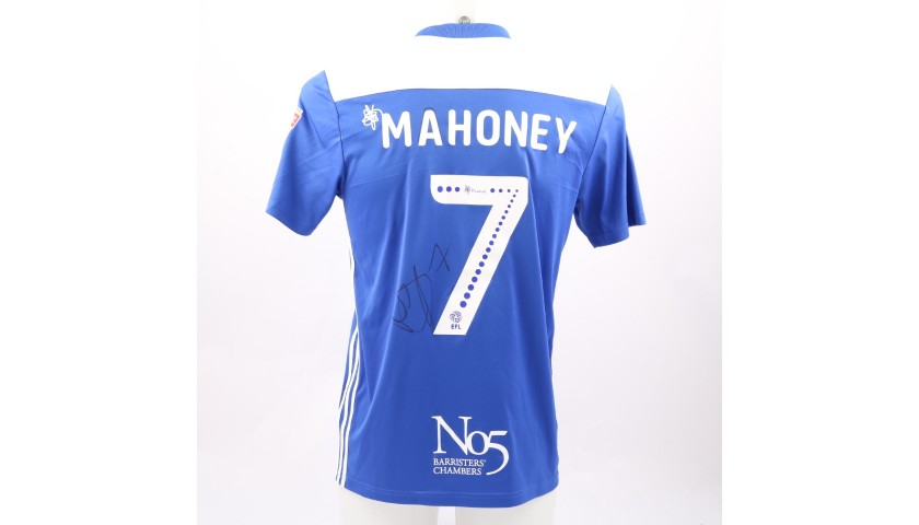 Mahoney's Birmingham City FC Worn and Signed Poppy Shirt
