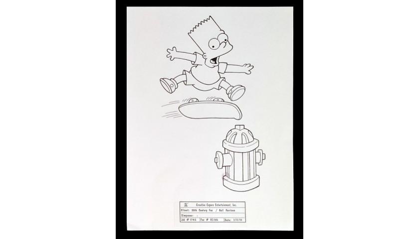 Original Bart Simpson Drawing