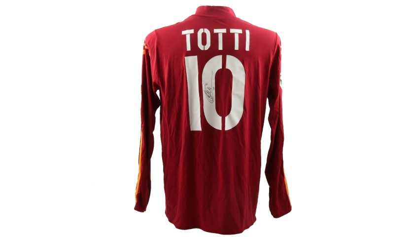 Totti's Roma Match-Issue/Worn and Signed Shirt, 2004