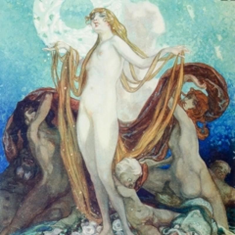 Birth of Venus from 1918 by Franz Bayroz