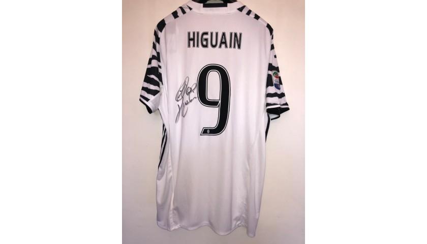 Official Higuain Juventus Shirt,  2016/17 - Signed