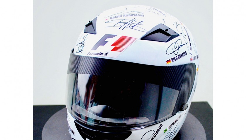 Formula 1 Helmet Signed by World Champions and Team Members
