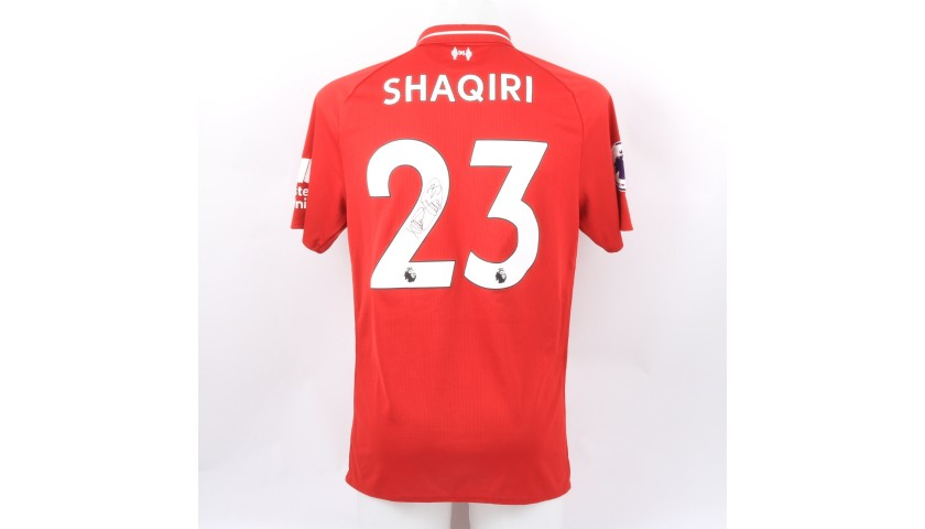 Shaqiri's Liverpool Match-worn and Signed Poppy Shirt