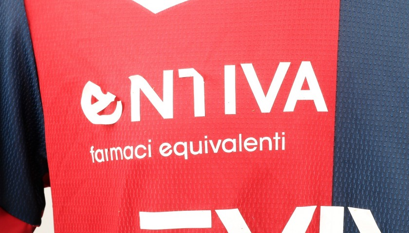 Laxalt's UNWASHED Special Genoa-Sampdoria Match-Worn Shirt