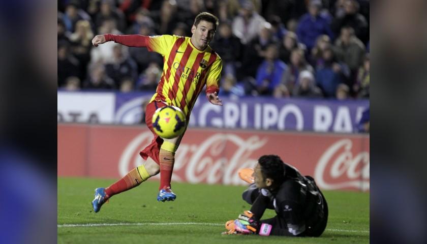 Messi's Match-Issue Barcelona Shirt, Liga 2013/14