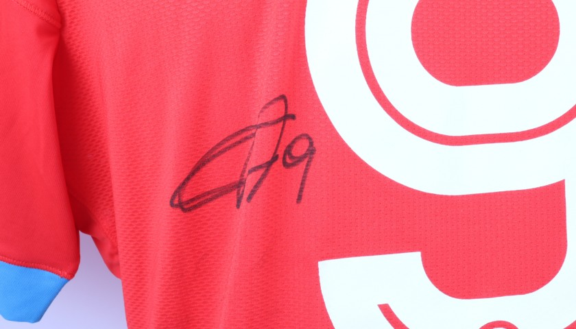Higuain's Napoli Worn and Signed Shirt, 2015/16