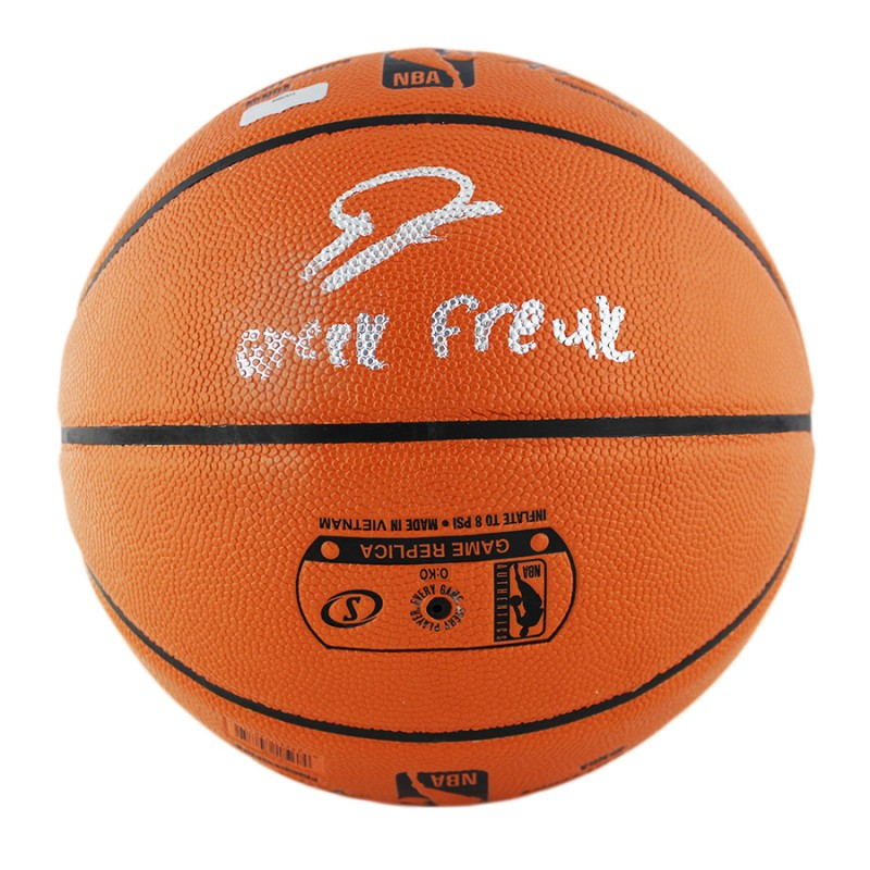 "Giannis Antetokounmpo Signed Milwaukee Bucks Spalding NBA Basketball with ""Greek Freak"" Inscription"