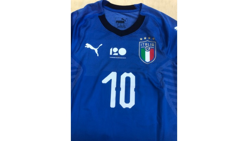 Insigne's Italy Match Shirt, 2018 Season + Captain's Armband