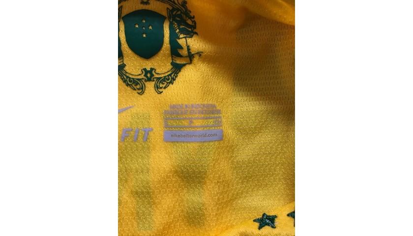 Neymar's Official Brasil Signed Shirt, 2012