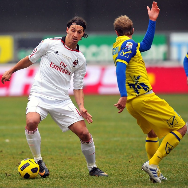 Ibrahimovic's Worn Shirt, Chievo-Milan 2011 - 25th Anniversary Berlusconi
