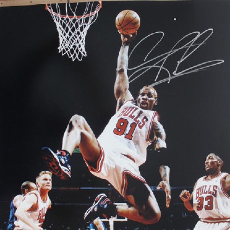 "Dennis Rodman Hand Signed 16""x20"" Photograph"