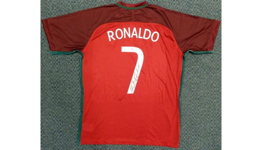 Cristiano Ronaldo Hand Signed Portugal Jersey