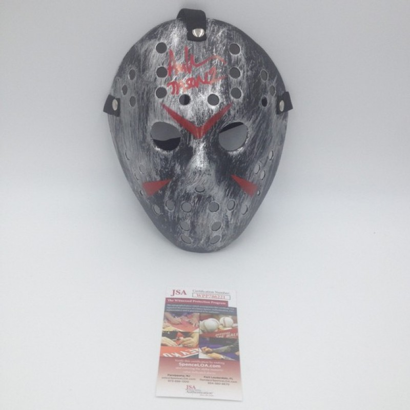 """""""Friday the 13th"""" - Jason Voorhees Mask Signed by Ari Lehman"""
