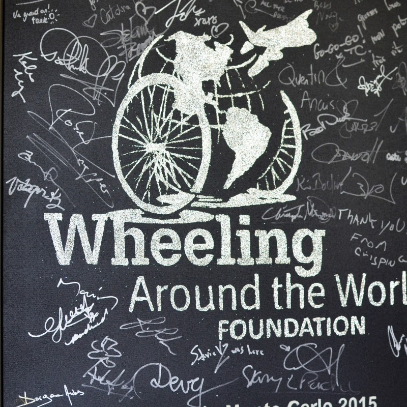 Wheeling Around the World 2015 Painting by Erik Black Painting