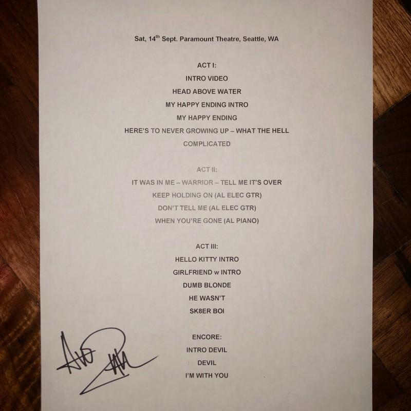 Autographed Setlist: Boston