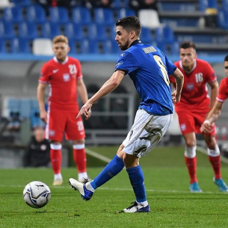Jorginho's Match Shirt, Italy-Poland 2020