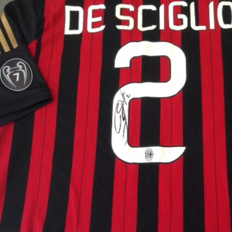 Milan fanshop shirt, De Sciglio, Serie A 2013/2014 - signed