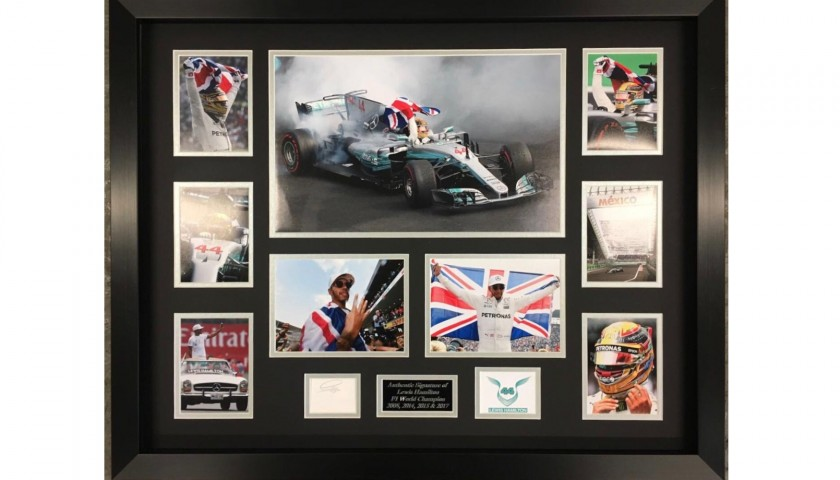 Lewis Hamilton Framed and Hand-Signed Photo