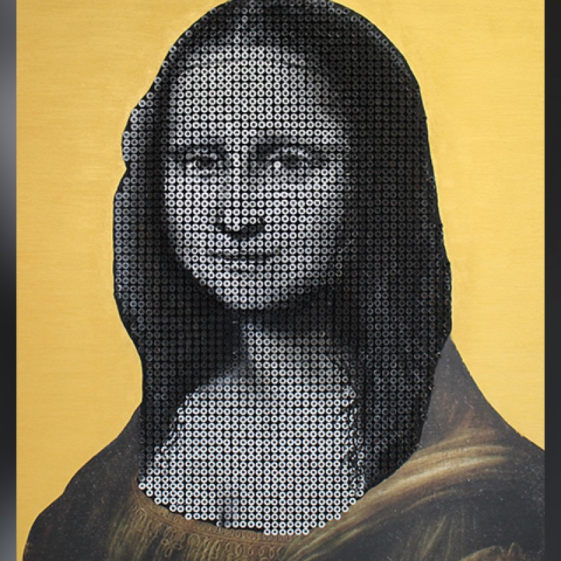 """Gioconda"" by Alessandro Padovan (Drill Monkeys Art Duo)"