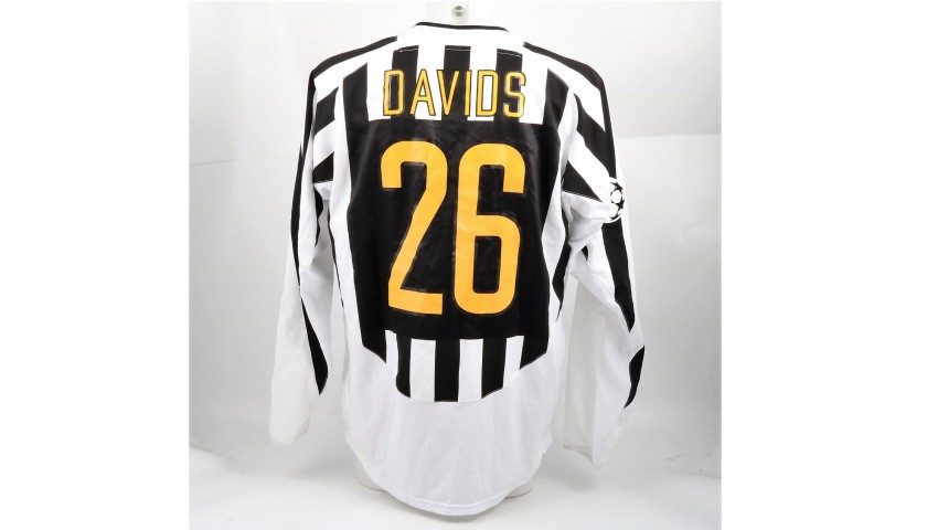 competitive price f4f20 1b1ed Davids' Juventus Shirt, Issued/Worn CL 2003/04 - CharityStars