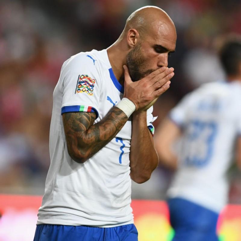 Zaza's Match-Issue / Worn Shirt, Portugal-Italy 2018