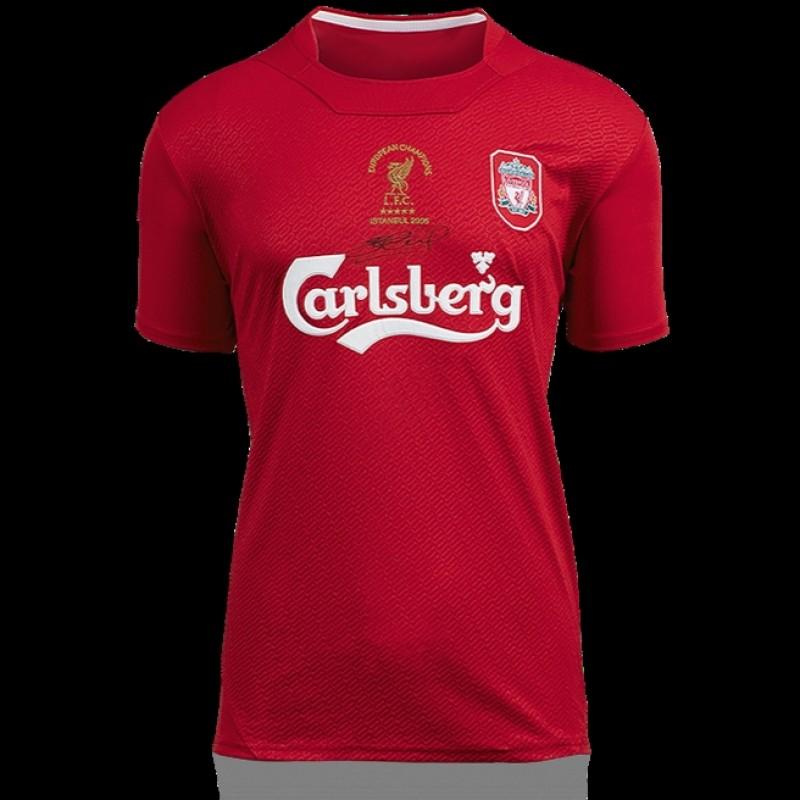 Steven Gerrard, Liverpool UCL Jersey Signed 2005