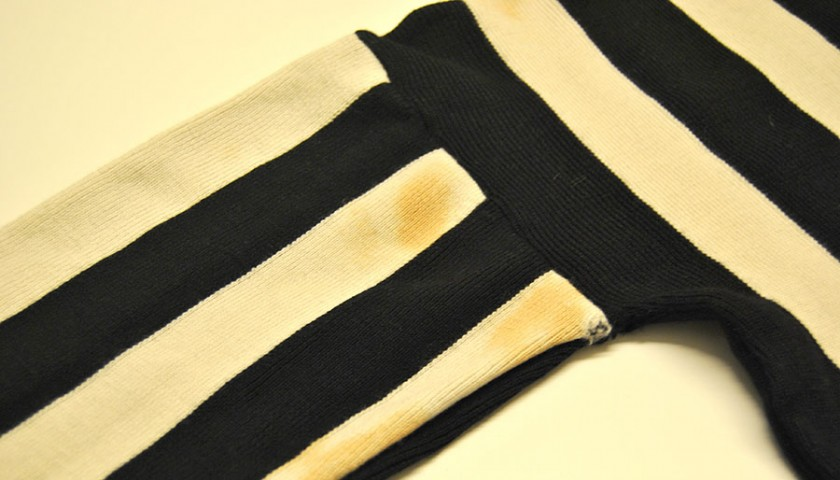 Historical Juventus Football Shirt worn during the 1946-47 Championship Games in Italy