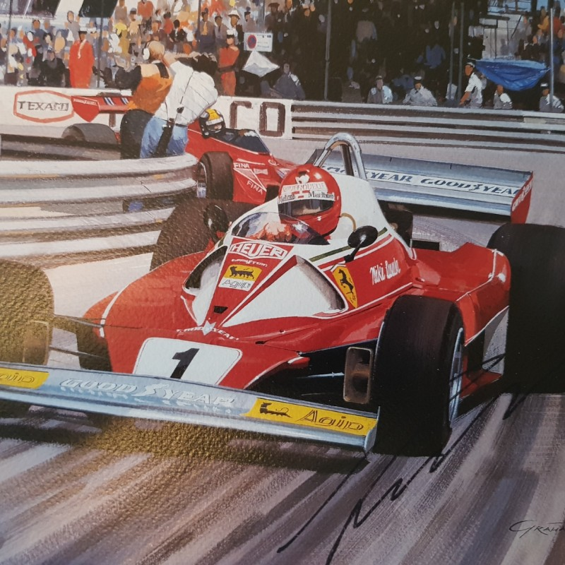Ferrari Screen Print Signed by Niki Lauda