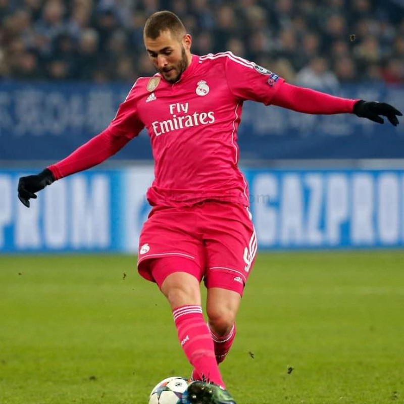 Benzema's Match-Issue Shirt, Schalke 04-Real Madrid 2015
