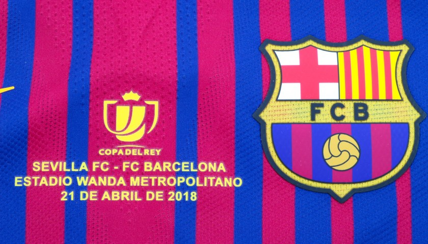Messi's Barcelona Match-Issued Copa del Rey 2018 Final Shirt