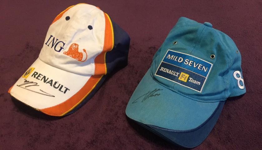 professionista di vendita caldo risparmia fino al 60% un'altra possibilità Due cappellini ufficiali Renault autografati da Fernando ...