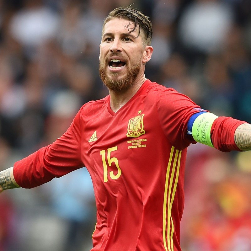 Ramos' Match Shirt, Spain-Czech Republic 2016