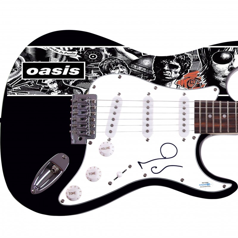 "Noel Gallagher ""Oasis"" Hand Signed Custom Graphics Guitar"