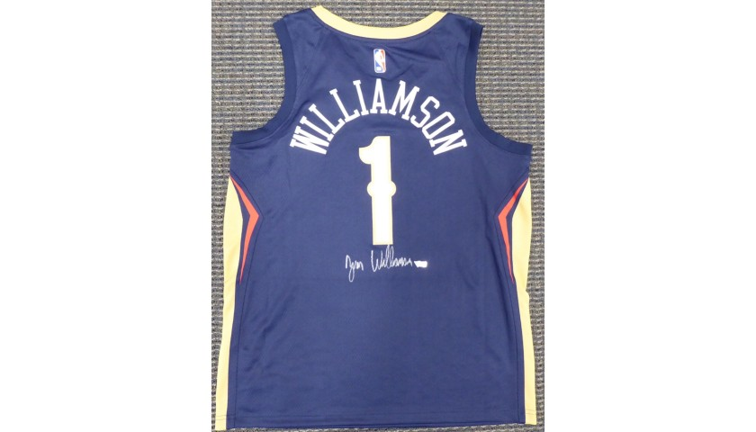 Zion Williamson Hand Signed Pelicans Jersey