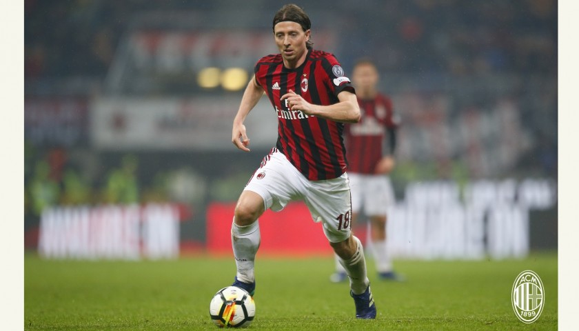 1e199000ed8fa9 Montolivo's Unwashed Match-Worn Milan-Inter Shirt with Special Patch ...