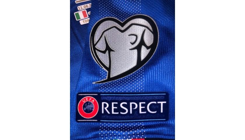 Chiellini's Match Shirt, Italy-Bosnia 2019