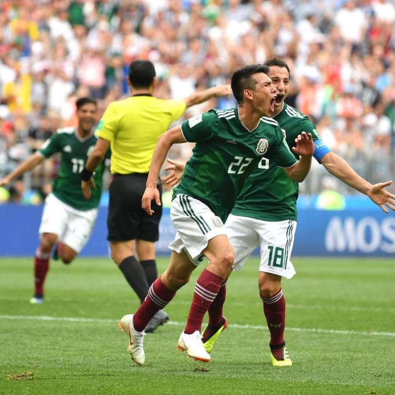 Lozano's Match Shirt, Germany-Mexico 2018