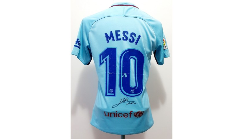 Messi's Official Barcelona Signed Shirt, 2017/18