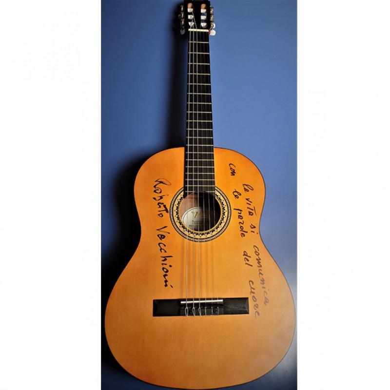 Chitarra di Roberto Vecchioni - Autografata