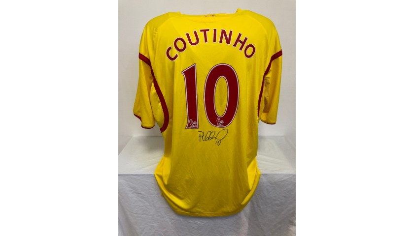 Coutinho's Official Liverpool Signed Shirt, 2014/15