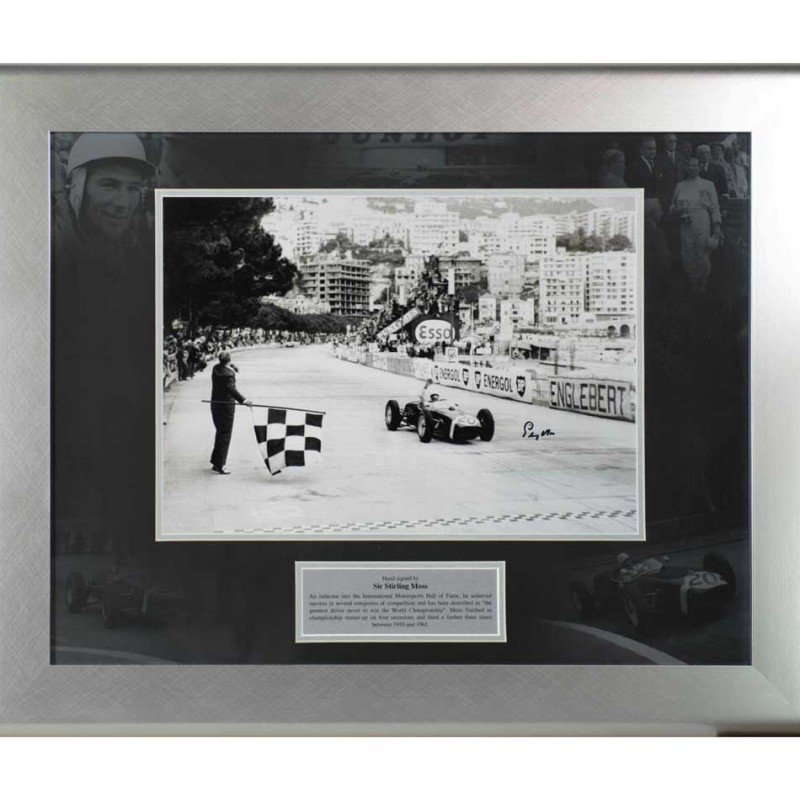 Stirling Moss Chequered Flag