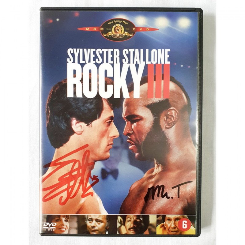 Rocky III DVD  - Signed by Stallone and Lang