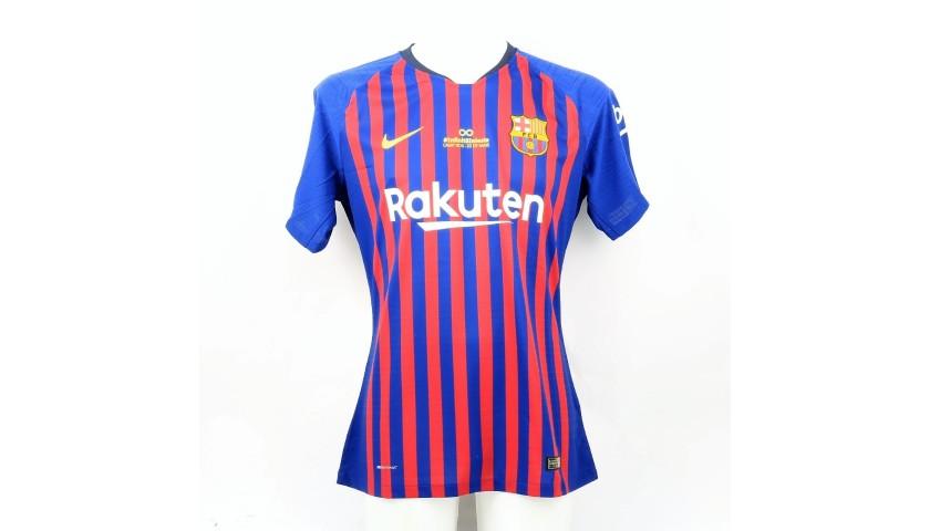 competitive price 8e609 b0767 Messi's Barcelona Match Shirt, Iniesta Last Match 2018 - CharityStars